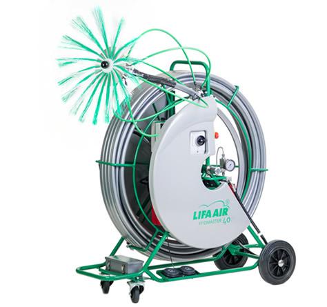 Spazzolatrice per pulizia condotte aerauliche